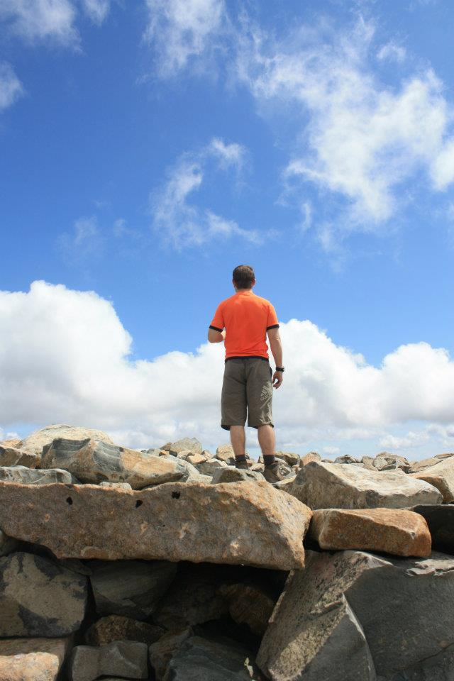Greg on the summit of Scafell Pike
