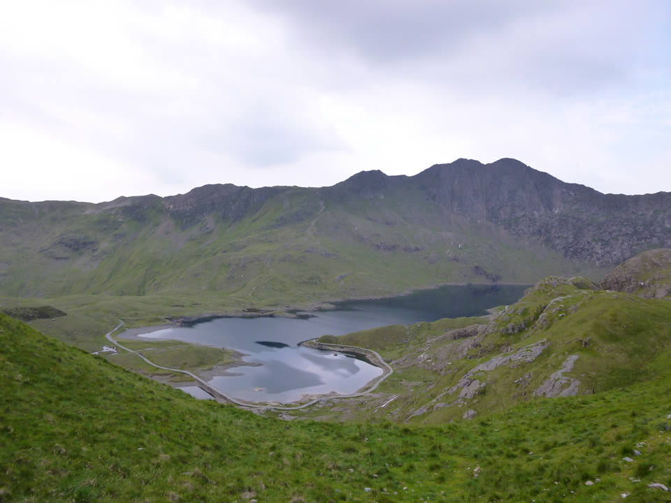 Looking toward the Miner's Track from the Pyg Track on Snowdon