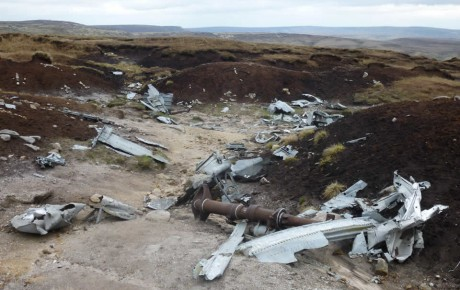 Plane wreck on Bleaklow