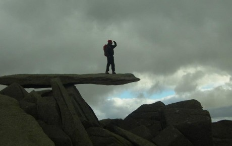 The Cantilever stone on Glyder Fach