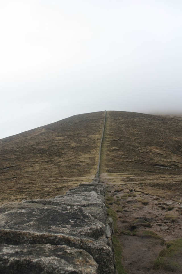 The Mourne Wall from Slieve Donard