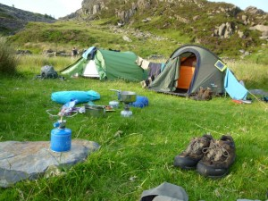 Guided wild camping holidays