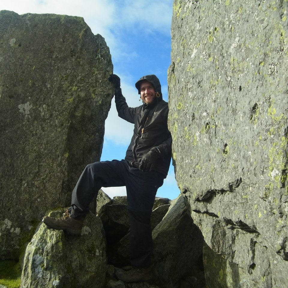 Me between Adam and Eve on Tryfan summit