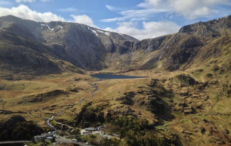 View from Pen Yr Ole Wen of Llyn Idwal and the Glyders